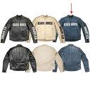 1047 カドヤ レザージャケット BHR-CLR 青/白 Lサイズ