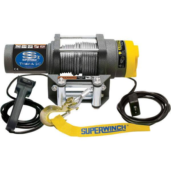 【USA在庫あり】 スーパーウインチ Superwinch ウインチ TERRA25 耐1125Kg 有線リモコン/ワイヤーロープ 4505-0410 JP