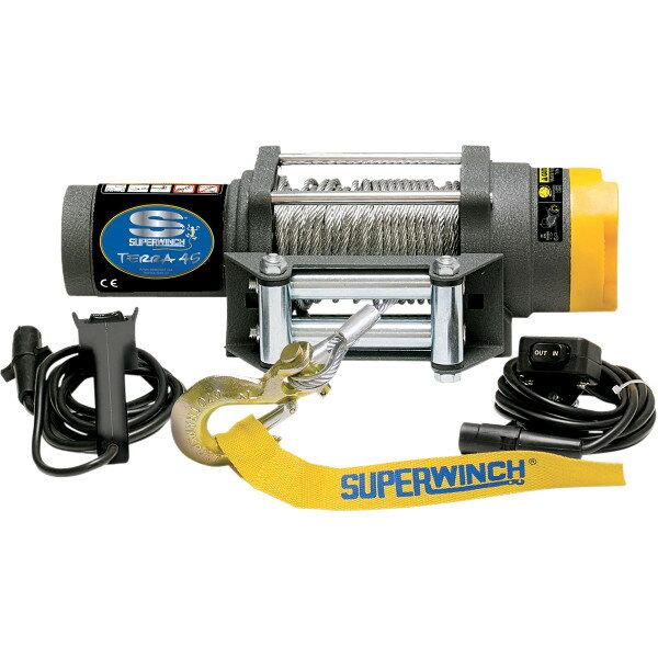 【USA在庫あり】 スーパーウインチ Superwinch ウインチ TERRA45 耐2025Kg 有線リモコン/ワイヤーロープ 4505-0411 JP