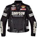 SJ-6115 シンプソン(SIMPSON) メッシュジャケット 黒 4Lサイズ