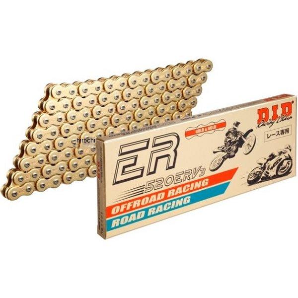 4525516295222 DID 大同工業 チェーン 520ERV3 レース用 ERシリーズ ゴールド (114L) カシメ