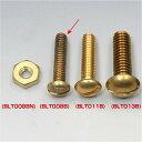 BLT008B イージーライダース マイナスネジ セット 12-24山 1インチ 真鍮 10個入り