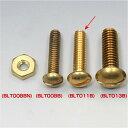 BLT011B イージーライダース マイナスネジ セット 1/4-20山 1インチ 真鍮 10本入り
