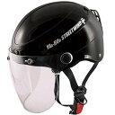 【メーカー在庫あり】 4984679507380 TNK工業 ハーフヘルメット ヤールー STR JT 黒 フリーサイズ(58-59cm)