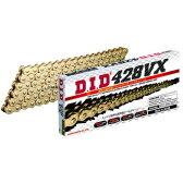 4525516378277 DID 大同工業 チェーン 428VX シリーズ ゴールド (124L) クリップ
