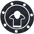 【メーカー在庫あり】 907704 NBS バイクパーツセンター タンクキャップカバー カワサキ 7穴用 カーボン調