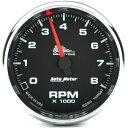 【USA在庫あり】 2211-0007 19306 オートメーター Autometer 電子タコメーター 8000rpm 黒