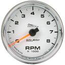 【USA在庫あり】 2211-0008 19307 オートメーター Autometer 電子タコメーター 8000rpm 白
