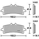 【USA在庫あり】 1720-0549 901DC SBS ブレーキパッド リア 11年以降 トライアンフ、BMW、カワサキ H2 (DCカーボン)
