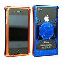 710-A01-0062 モリワキ iPhone4s、4用 ケース オレンジ/ブルー