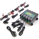 【USA在庫あり】 022-0148 DL-WH バッテリーテンダー Deltran Battery Tender 充電 ステーション 4系統 x 12V-1.25A