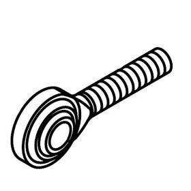 00-00-0074SP武川リアディスクブレーキキットリペアパーツキャリパーブラケット用ロッドエンド8mmL1個モンキーゴリラ