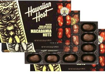 ハワイアンホスト マカダミアナッツ チョコレート 226g(8oz 16粒) ×4箱セット (ハワイお土産)