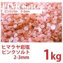 【ヒマラヤ岩塩】 ピンクソルト 2-3mm 1kg 【国内洗浄・国内食品検査済】