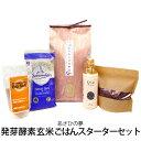 楽天HIRYUHIRYU Style 【令和2年あさひの夢】発芽酵素玄米ごはんスターターセット玄米、小豆、塩、EM-X GOLD 5点セット