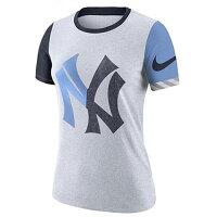 NIKE ナイキ Slub Logo Crew T-Shirt New York Yankees スラブ ロゴ クルー Tシャツ ニューヨーク・ヤンキース レディース ウーマン 取り寄せ商品の画像