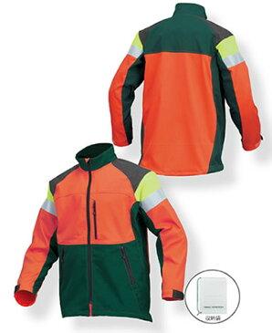 リンタロウ ニュー チェンソー作業用スーツ ジャケット MT517 M L LL オレンジ グリーン 緑