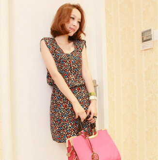 It is ★ _auktn02P02Mar14 more than 5,000 yen such as one piece tunic leggings wedding ceremony dress party long sleeves latest in 0636 sleeveless dress one piece ★ Lady's spring of the colorful dot pattern that cloth has good feeling