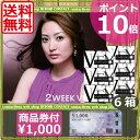 (送料無料)ポイント10倍!2ウィークビューティー(KYOTOブラック)×6箱+JCBギフト¥1000分付(ビューノ)(国際格安配送)(後払い可)
