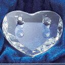 ガラス製ハートのリングピロー横7×縦6.5×高さ1.5cm 化粧箱付き【ウェディング 結婚式 結婚祝い】