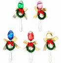 ハートチョコonリース付き幸せクローバースプーン1本※5色のうち1色(グリーン・レッド・ゴールド・ピンク・ブルー)アソート【結婚式 二次会 パーティー】