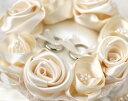オリジナル解説書付!ローズのリングピロー(シャンパンゴールド)手作りキット無料サポートOK【結婚式の手芸キット】
