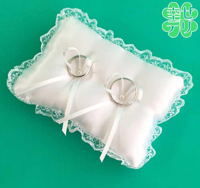 【リングピロー手作りキット】自分で作るシンプルなスクエアのミニリングピロー手芸キット【結婚式 花嫁diy】【あす楽対応】