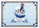 ディズニー メッセージパズルのウェルカムボード 『ヨットタイプ』(ミッキーマウス&ミニーマウス)80ピース 【結婚式 寄せ書き 帆船 海 サマーウェディング】