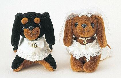 ミニチュアダックスのウェルカムドール(洋装)完成品【ウェルカムドッグ 結婚式 犬のぬいぐるみ】