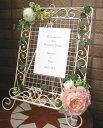 ロマンチックなアートフラワーのウェルカムボード
