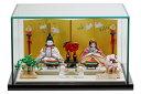 雛人形 木目込み 人気 かわいい おしゃれ ひな人形 誉 -ほまれ- 親王飾 ガラスケース付 11SN-027A-G