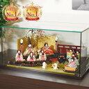 雛人形 コンパクト 人気 かわいい おしゃれ 木目込み ひな人形  花 - はな - ケ-ス付十人飾り H3-11JN-003JK-2