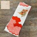 【リサイクル着物 単品】振袖 ふりそで レトロ ユーズド USED 中古 着物 きもの 時代物 リユース アンティーク着物 白 赤 絞り柄 雲取 菊 桜 サステナブル エコ