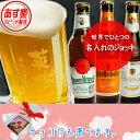 あす楽 名入れビールジョッキと厳選ビール3本(330ml×3本)のセット【送料無料(北海道・沖縄・離