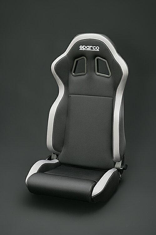 sparco(スパルコ) R100バケットシート リクライニングモデルブラック/グレーボーダー(グレーステッチ)
