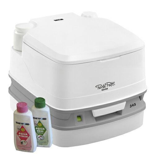 PortaPotti QUBE(ポルタポッティキューブ)水洗式ポータブルトイレ ホワイト PPQ345
