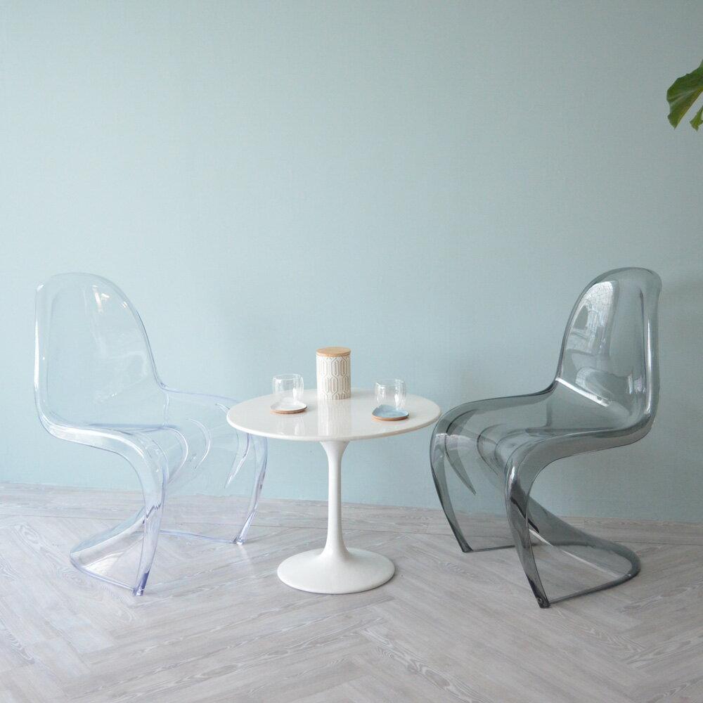 【2 Colorで新登場!】パントンチェア PANTON Chair ポリカーボネート製 クリア 透明 ミーティング ダイニング おしゃれ 椅子 イス