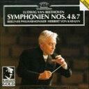 Beethoven ベートーヴェン / 交響曲第4、7番 カラヤン&ベルリン・フィル 輸入盤 【CD】
