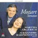 作曲家名: Ma行 - Mozart モーツァルト / 2台と四手のためのピアノ作品集 / アルゲリッチ&ラビノヴィチ 【CD】