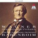 作曲家名: Wa行 - Wagner ワーグナー / Overtures, Preludes: Barenboim / Cso 【CD】
