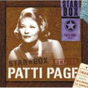 Artist Name: P - Patti Page パティペイジ / Star Box 【CD】