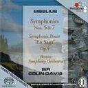 Composer: Sa Line - 【送料無料】 Sibelius シベリウス / 交響曲第5番、第7番 コリン・デイヴィス&ボストン交響楽団 輸入盤 【SACD】