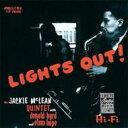 藝人名: J - 【送料無料】 Jackie Mclean ジャッキーマクレーン / Lights Out 【SHM-CD】