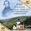 Composer: Sa Line - 【送料無料】 Schumann シューマン / 交響曲第3番『ライン』、交響曲第4番 フォスター&チェコ・フィル 輸入盤 【SACD】