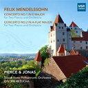 Mendelssohn メンデルスゾーン / 2台のピアノのための協奏曲第1、2番 ジョスア・ピアース、ドロシー・ジョナス(p)、レジュハ&スロ..