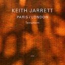 Artist Name: K - 【送料無料】 Keith Jarrett キースジャレット / Paris / London Testament 輸入盤 【CD】