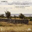 作曲家名: Sa行 - 【送料無料】 Schubert シューベルト / 交響曲第8番『未完成』、第9番『グレート』 ダウスゴー&スウェーデン室内管弦楽団 輸入盤 【SACD】