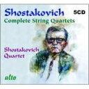 【送料無料】 Shostakovich ショスタコービチ / 弦楽四重奏曲全集 ショスタコーヴィチ四重奏団(5CD) 輸入盤 【CD】