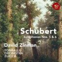 作曲家名: Sa行 - Schubert シューベルト / Sym, 5, 6, : Zinman / Zurich Tonhalle O 【CD】