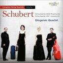 作曲家名: Sa行 - Schubert シューベルト / 弦楽四重奏曲全集第1集〜第13番『ロザムンデ』、第7番、他 ディオゲネス四重奏団 輸入盤 【CD】